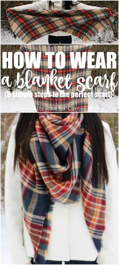 How to Wear a Blanket Scarf (5 simple steps to mastering the blanket scarf)