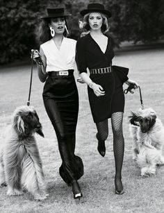 Joan Smalls and Hailey Clauson by Josh Olins, Vogue Paris, Sept 2011