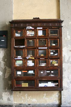 Lovely Wooden Antique Mailbox By Wrote, Via Flickr. Antique MailboxFireplace  IdeasPost OfficeChina ...