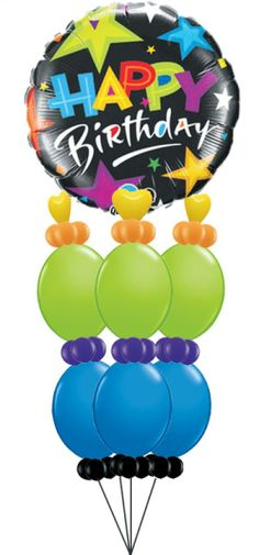 Send Your Star This Grand Birthday Balloon Bouquet Great For A Party Too