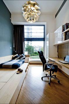 Cool office / bedroom idea