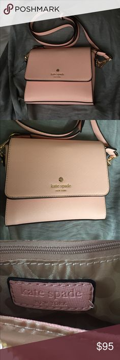 """NEW kate spade cross body vintage pink Flawless - Used one time. This bag is a couple of years old but has been stored away after a photo shoot a couple of years ago. Lovely vintage pink color. Adjustable or removable cross body strap to use as a clutch bag. Measures approximately 7.5"""" across, 3"""" base front to back, 6.5"""" tall. No original tags or packaging. Bags Crossbody Bags"""