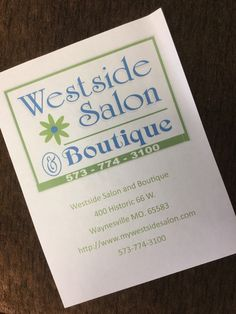 May 2018 - Westside Salon and Boutique