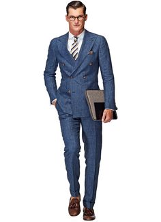 Suitsupply Suits: Soft-shoulders, great construction with a slim fit—our tailored, washed and formal suits are ideal for any situation. Mens Dress Outfits, Men Dress, Casual Outfits, Mens Fashion Suits, Mens Suits, Men's Fashion, Soho, Navy Blue Suit, Blue Suits