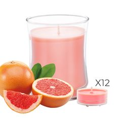 Pink Grapefruit Escential Jar + 12 Tealights