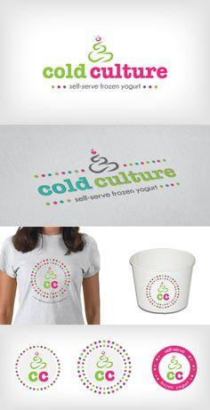 Logo Design | Branding | Cold Culture | Self-Serve Frozen Yogurt | Heart and Ram Design Co.