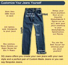 Custom Made Jeans Online Shop Customize Your Jeans Yourself