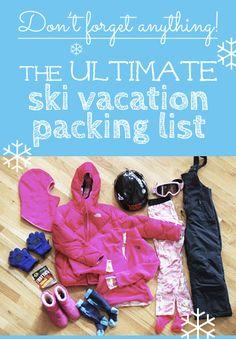The Ultimate Ski Vacation Packing List #ski