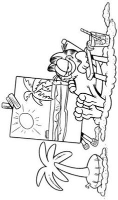 Garfield coloring page 11