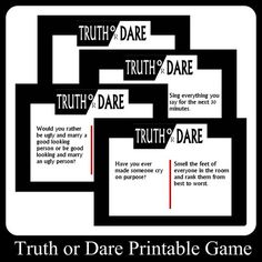 Teen Truth Or Dare Questions Suggestions And Games Adult Slumber Party Slumber Party
