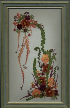pressed flowers | flower arrangement 12x23cms 3rd place in world wide pressed flower ...
