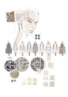 Fashion Portfolio - fashion illustration; lineup; creative process; fashion sketchbook // Caroline Sheraton