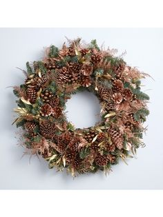 Nikki Tibbles Wild at Heart Copper Christmas wreath Christmas Flowers, Christmas Wreaths, Christmas Decorations, Holiday Decor, Luxury Flowers, Wild Hearts, Floral Arrangements, Copper, House Styles
