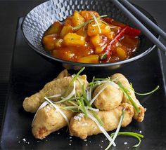 Try an authentic version of this classic Chinese takeaway dish, with a warm chilli flavour. This sweet and sour chicken recipe has been triple-tested by our cookery team and nutritionally analysed. Find more Chinese recipes at BBC Good Food. Chicken Recipes Bbc, Bbc Good Food Recipes, Cooking Recipes, Cooking Videos, Meat Recipes, Recipies, Dinner Recipes, Sweet Potato Benefits, Sweet Sour Chicken