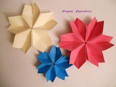 Origami - Papiroflexia. Flor, copo de nieve, fácil