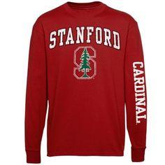 Stanford Cardinal Cardinal Arch & Logo Long Sleeve T-Shirt