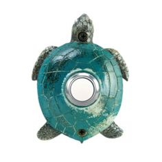 This unique Green Sea Turtle Doorbell is hand painted to creates a seaside motif at your door. Displaying this doorbell will help you project a spirit of relaxed living from the door of your home. The sea turtle being the symbol of ocean deep is the perfect pick for a doorbell. This resin doorbell is crafted using the sand casting technique. This coastal doorbell is easy to install and will add the nautical personality to your home. Colors are even more vibrant then shown. Cast of…