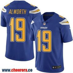 Men's San Diego Chargers #19 Lance Alworth Royal Blue 2016 Color Rush Stitched NFL Nike Limited Jersey