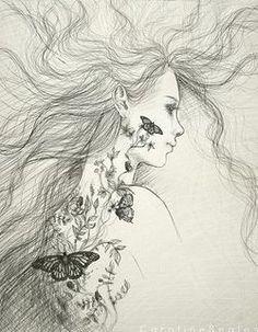 Heartbroken Fairy Fine Art An Original Drawing By ABitofWhimsyArt