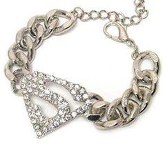 Superman Supergirl Bracelet Chunky C19 Clear Crystal >>> You can find more details at http://www.amazon.com/gp/product/B00RKGXO5U/?tag=splendidjewelry07-20&ptu=170716171831