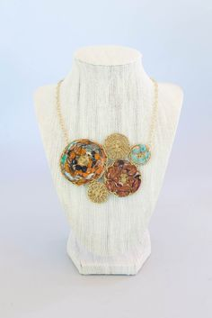 Kantha Disc Necklace – this is my favorite! I get compliments every time I wear it!