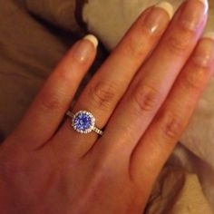 Engagement ring - blue sapphire