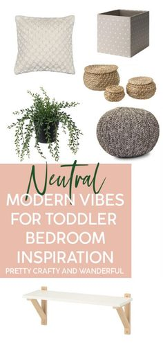Neutral Modern Vibes for Toddler Bedroom Decor Ideas Neutral colors are popular for interior decorat Diy Kitchen Decor, Easy Home Decor, Baby Nursery Decor, Baby Decor, Nursery Ideas, Modern Industrial Decor, Modern Bedroom Decor, Decor Room, Kids Room Organization