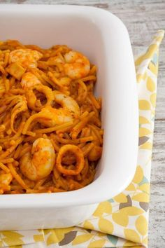 Prawn Squid Noodles-with-Thermomix Clean Recipes, Cooking Recipes, Healthy Recipes, Lidl, Food N, Food And Drink, Thermomix Desserts, Pasta Thermomix, Fish And Seafood