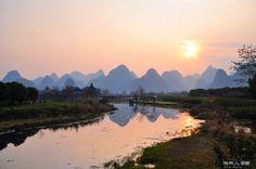 夕阳下的世外桃源外景 - 风姿摄影 - 桂林人论坛 - 桂林生活网