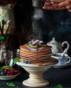 "3,261 curtidas, 32 comentários - Hautes Cuisines (@hautescuisines) no Instagram: ""Vegan Cinnamon Pancakes #Pancakes theme week Credit: @binjalsvegkitchen The winners of this week…"""