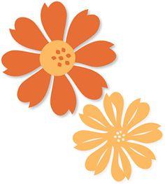 Silhouette Online Store - View Design #9160: 7-petal flower