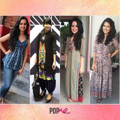 We at #POPxo sure love bringing out our inner #desigirl once in a while! Here's us sporting our FAV kurtis. Double tap if you love our look ❤️