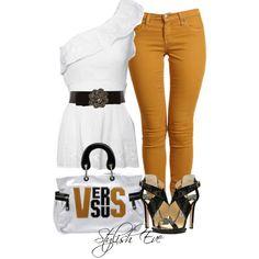 Pantalones color mostaza
