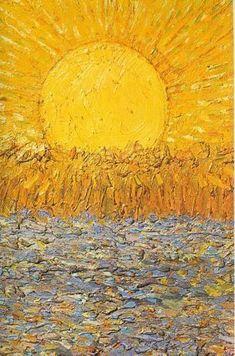 Vincent van Gogh - Le Soleil In this eternal winter, this is the next best thing. Van Gogh hits me harder than any other painter Art Van, Van Gogh Pinturas, Art Amour, Van Gogh Paintings, Ouvrages D'art, Fine Art, Claude Monet, Art Plastique, Oeuvre D'art