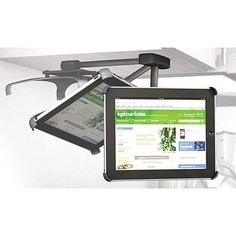 iPad under-cabinet mount