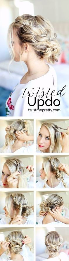 Easy Homecoming Updo | Twisted Hairstyle