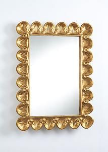 Picture of Small Scalloped Wall Mirror in Gold Leaf