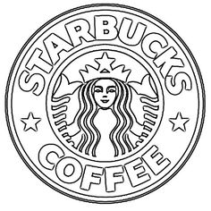 Sketch Of Logo Starbucks Coffee Drawing - Kunst - Starbucks Logo, Arte Starbucks, Starbucks Cup Drawing, Starbucks Coffee, Hot Coffee, Coffee Break, Coffee Barista, Black Coffee, Coffee Drinks
