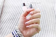 Pastel Pink Nails, Pretty Nails, My Nails, Valentines Day, Rings For Men, Sequins, Ideas, Valentine's Day Diy, Cute Nails