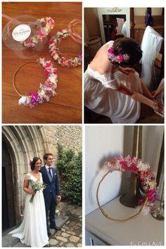 Corona de hortensias y paniculata para una novia muy especial #CarideNicolasTocados www.caridenicolas.com