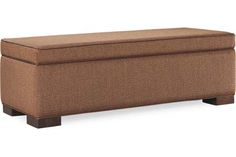 Lee Industries 9391-40 Storage Bench Something like this could work at the end of bed for storage. We can customize size and fabric