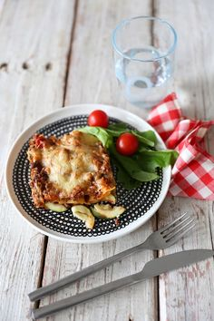 moose-courgette lasagne