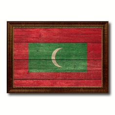 Maldives Country Flag Texture Canvas Print, Custom Frame Home Decor Gift Ideas Wall Decoration