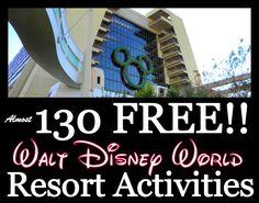 Almost 130 FREE Walt Disney World Resort Activities!
