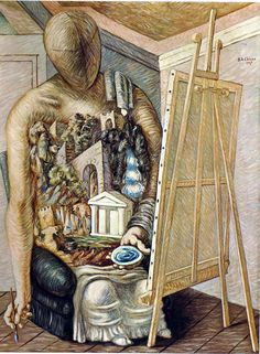 Giorgio de Chirico (1888..1978) Surrealism Painting, Artist Painting, Figure Painting, Spanish Art, Traditional Paintings, Italian Artist, Red Poppies, Surreal Art, Les Oeuvres