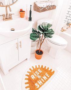 Cute Bedroom Decor, Room Ideas Bedroom, Boho Bathroom, Bathroom Kids, College Bathroom, Bathrooms, Cute Room Ideas, Dream House Interior, Boho Room