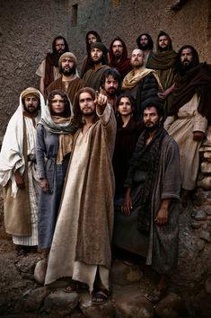 """The Bible"""" - Jesus (Diogo Morgado) and all his disciples"""