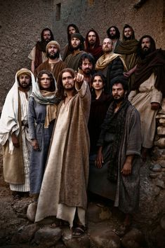 "The Bible"" - Jesus (Diogo Morgado) and all his disciples"