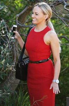 Samantha Jade during her first day on the set of Home and Away in Palm Beach.