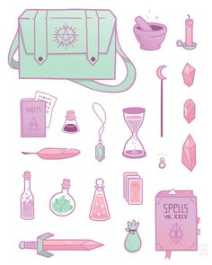 Magic essentials!This was part of a series of illustrations I did for an annual group show with two friendsat work(but still haven't gotten around to sharing, oops. More on that later.)